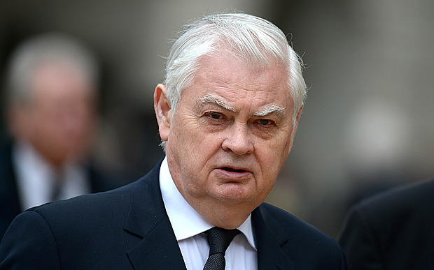 LONDON, ENGLAND - APRIL 17: Former Cabinet Minister Lord Norman Lamont leaves the Ceremonial funeral of former British Prime Minister Baroness Thatcher at St Paul's Cathedral on April 17, 2013 in London, England. Dignitaries from around the world today join Queen Elizabeth II and Prince Philip, Duke of Edinburgh as the United Kingdom pays tribute to former Prime Minister Baroness Thatcher during a Ceremonial funeral with military honours at St Paul's Cathedral. Lady Thatcher, who died last week, was the first British female Prime Minister and served from 1979 to 1990. (Photo by Jeff J Mitchell/Getty Images)